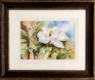 "Anita Seitz ""Magnolia"" Watercolor"