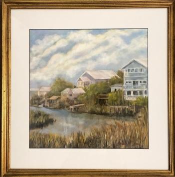 """Brenda McLean """"Marsh Cottages""""pastel"""