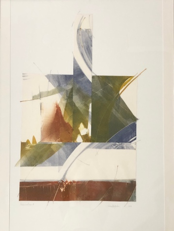 "Cecile Martin ""Intersection 4"" monoprint collage"
