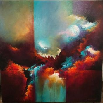 "Debbie Bzdyl ""The Dawning of Time"" acrylic"
