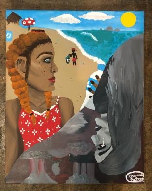 "Cheyenne Foster ""Butterfly Effect"" acrylic"