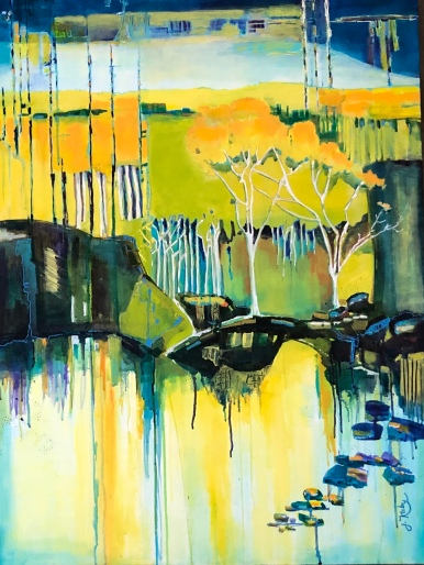 "Joy Kuby ""Bridge to the Forest of Dreams"" acrylic"