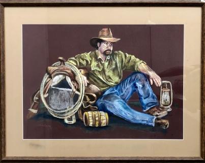 "Jane Friedman ""The Cowboy"" pastel"