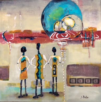 "Joy Kuby "" Ancient Faces/Ancient Places"" acrylic"