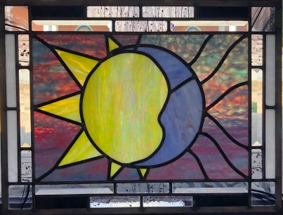 "Linda Parsons ""Heavenly Bodies"" stained glass"