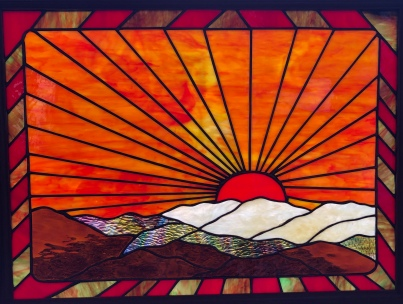 "Linda Parsons ""Sunrise"" stained glass"