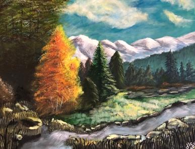 """Lynn Crain """"Fall"""" acrylic"""