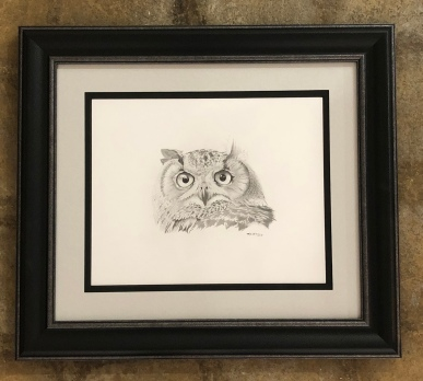 "Mark Thomas ""Great Horned Owl"" graphite"