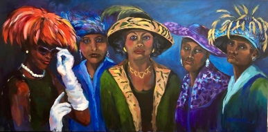 "Martha Driscoll ""Church Ladies"" acrylic"