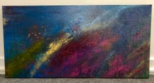 "Patrick Hall ""Gold Rush"" acrylic"