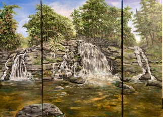 "Rhea Fletcher ""Waterfalls"" acrylic"