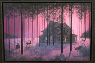 "Steve Garner ""Home in the Trees"" acrylic"