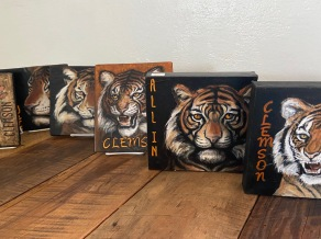 Clemson Plaques with Easels $25
