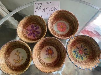 Pine Needle Baskets by Mason-$20