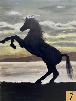 Horse Silhouette (2hrs)