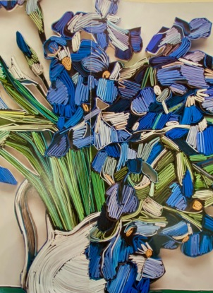 32 Folded Paper Irises 2+hrs